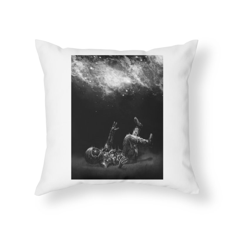Far-Off Home Throw Pillow by nicebleed