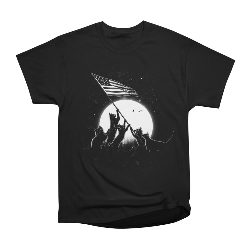 Freedom Cats American Flag Women's Heavyweight Unisex T-Shirt by nicebleed