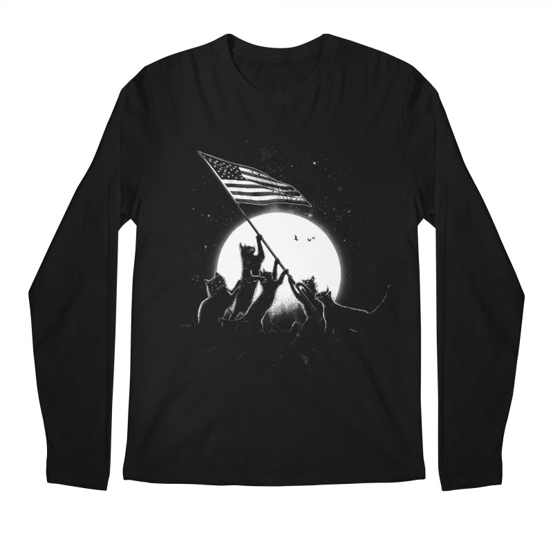 Freedom Cats American Flag Men's Regular Longsleeve T-Shirt by nicebleed