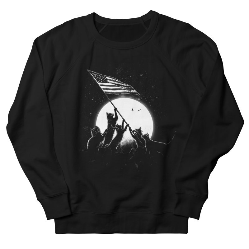 Freedom Cats American Flag Men's French Terry Sweatshirt by nicebleed