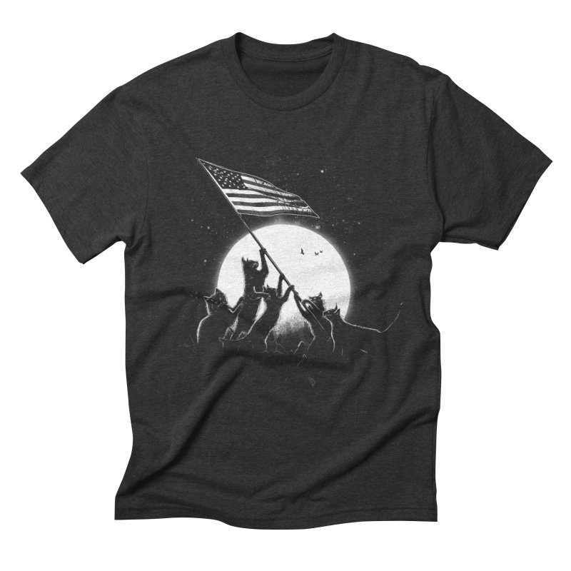 Freedom Cats American Flag Men's Triblend T-Shirt by nicebleed