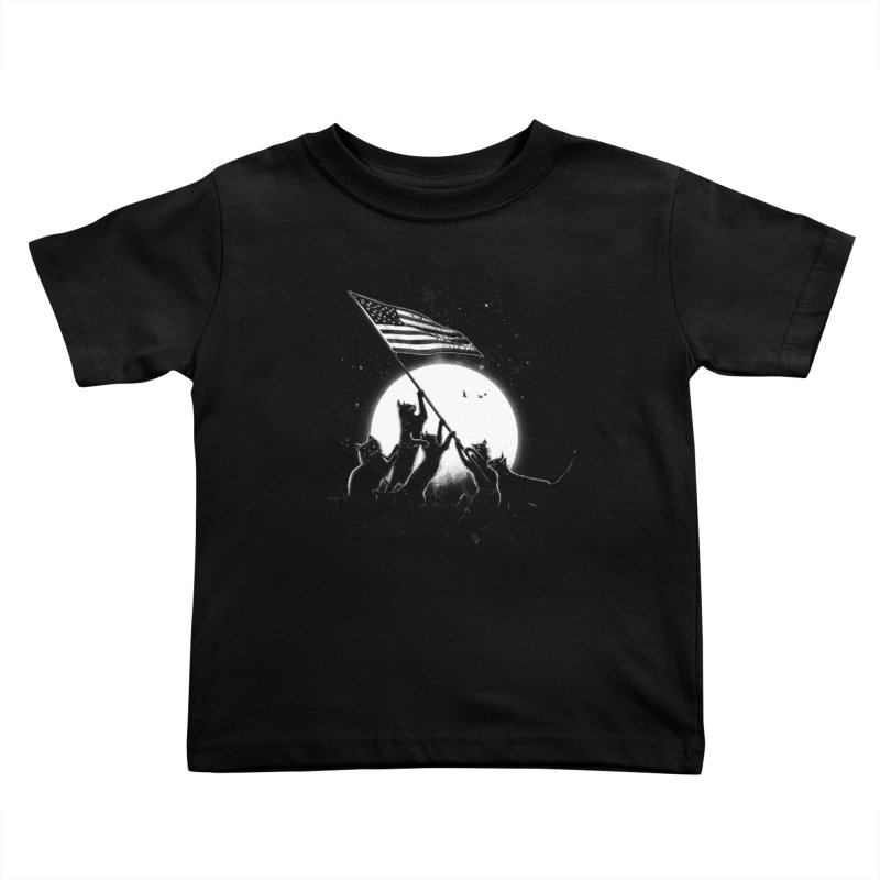 Freedom Cats American Flag Kids Toddler T-Shirt by nicebleed
