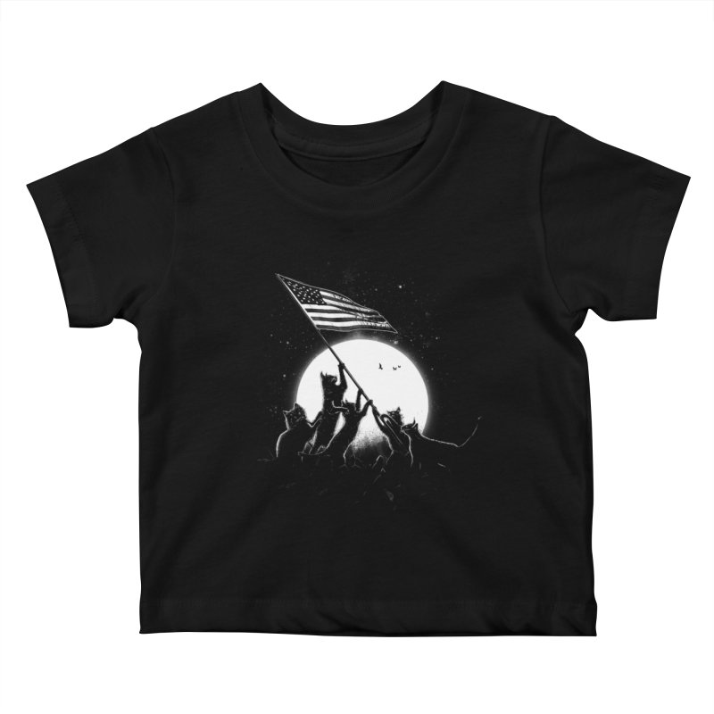 Freedom Cats American Flag Kids Baby T-Shirt by nicebleed