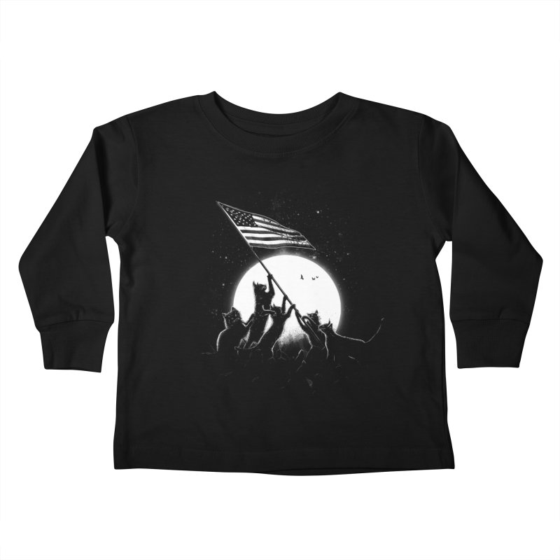 Freedom Cats American Flag Kids Toddler Longsleeve T-Shirt by nicebleed