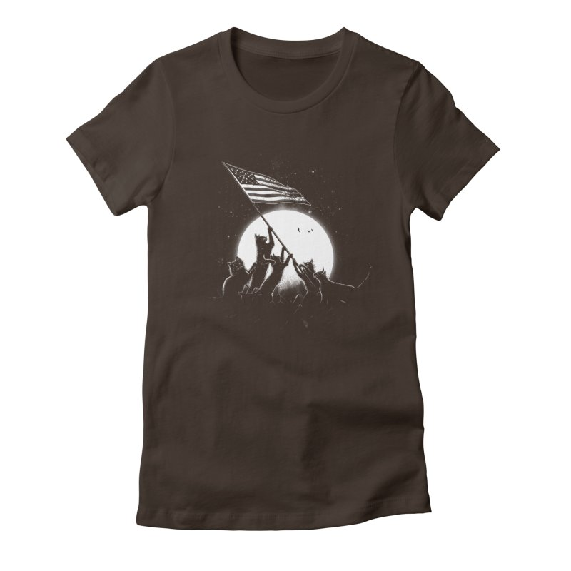 Freedom Cats American Flag Women's Fitted T-Shirt by nicebleed