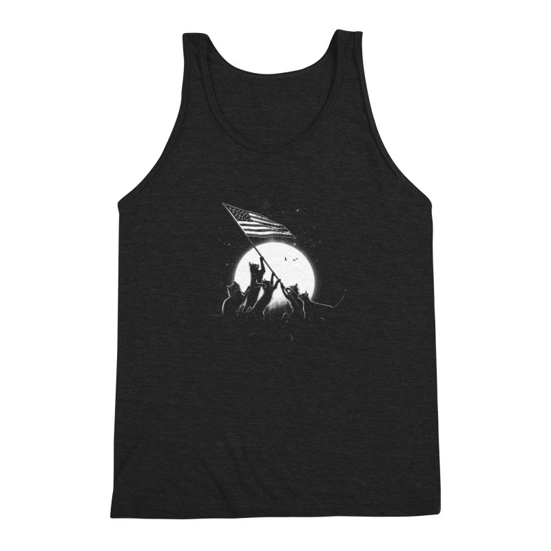 Freedom Cats American Flag Men's Triblend Tank by nicebleed
