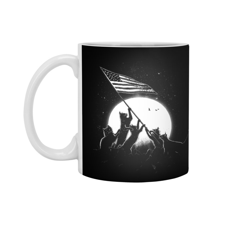 Freedom Cats American Flag Accessories Mug by nicebleed