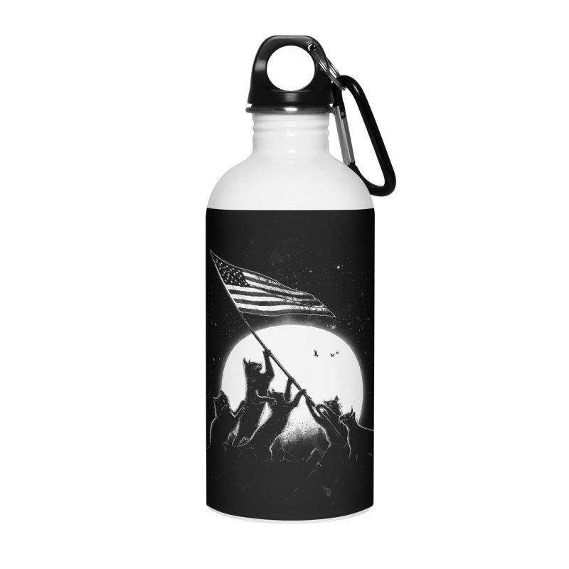 Freedom Cats American Flag Accessories Water Bottle by nicebleed