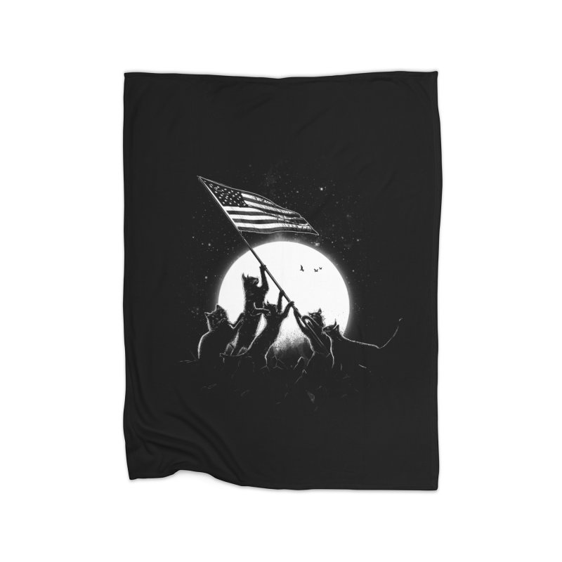 Freedom Cats American Flag Home Blanket by nicebleed