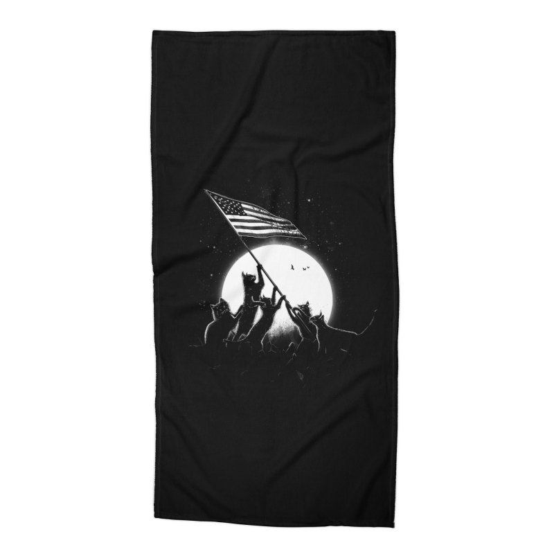 Freedom Cats American Flag Accessories Beach Towel by nicebleed