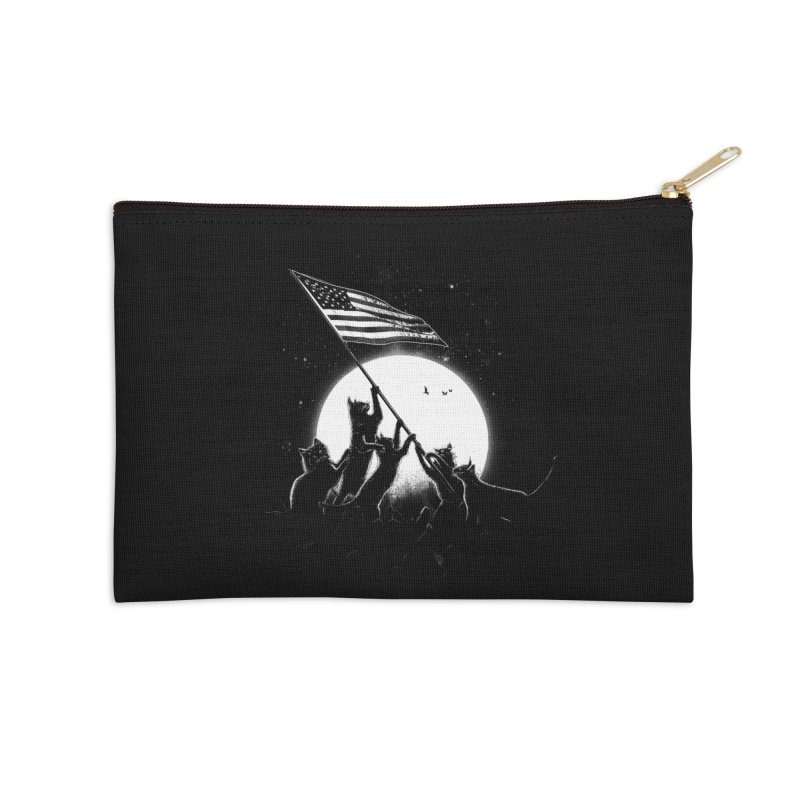 Freedom Cats American Flag Accessories Zip Pouch by nicebleed