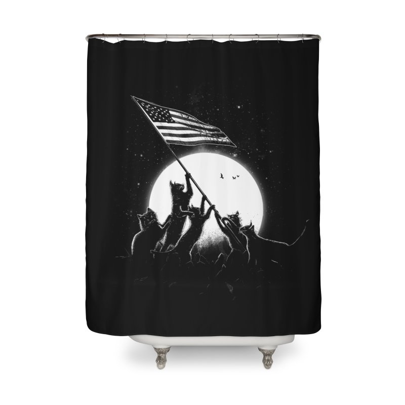 Freedom Cats American Flag Home Shower Curtain by nicebleed