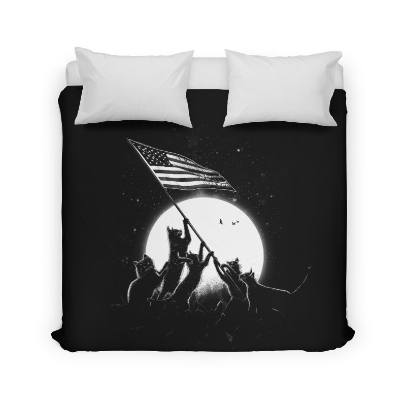 Freedom Cats American Flag Home Duvet by nicebleed
