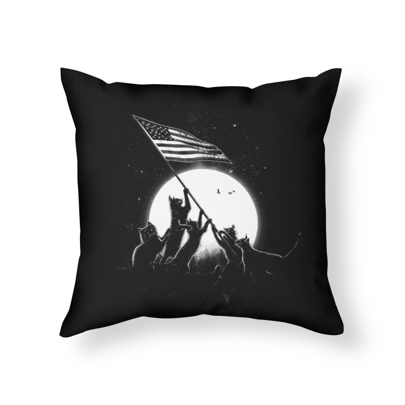 Freedom Cats American Flag Home Throw Pillow by nicebleed