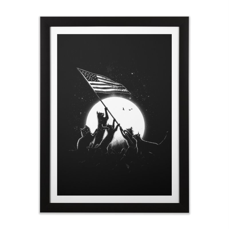 Freedom Cats American Flag Home Framed Fine Art Print by nicebleed
