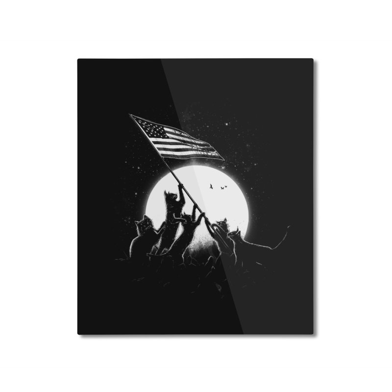 Freedom Cats American Flag Home Mounted Aluminum Print by nicebleed