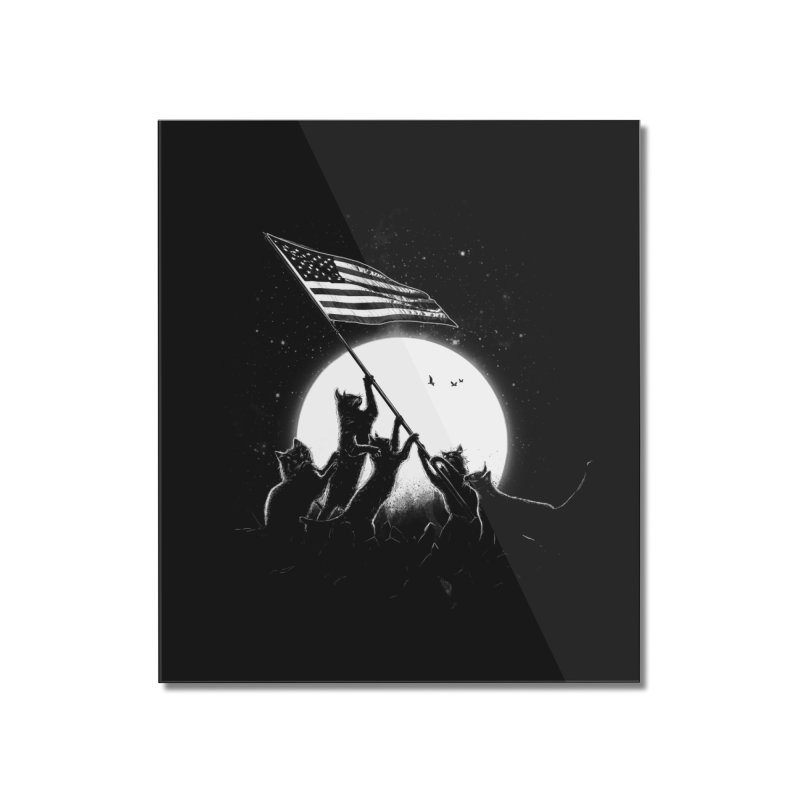 Freedom Cats American Flag Home Mounted Acrylic Print by nicebleed