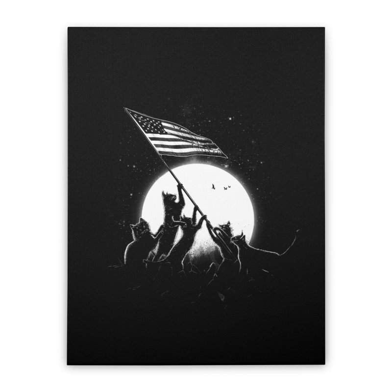Freedom Cats American Flag Home Stretched Canvas by nicebleed