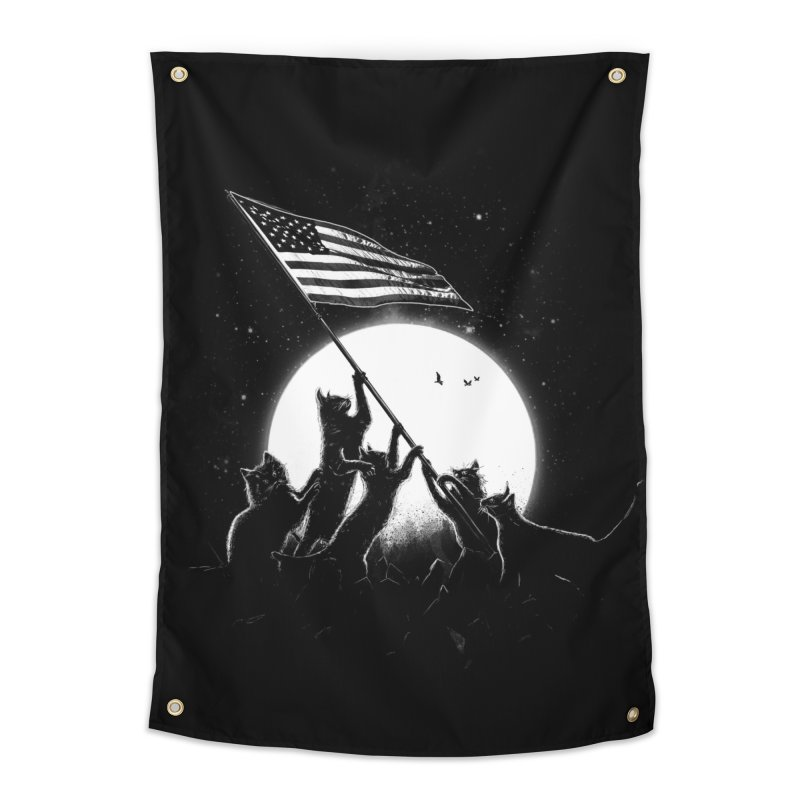 Freedom Cats American Flag Home Tapestry by nicebleed