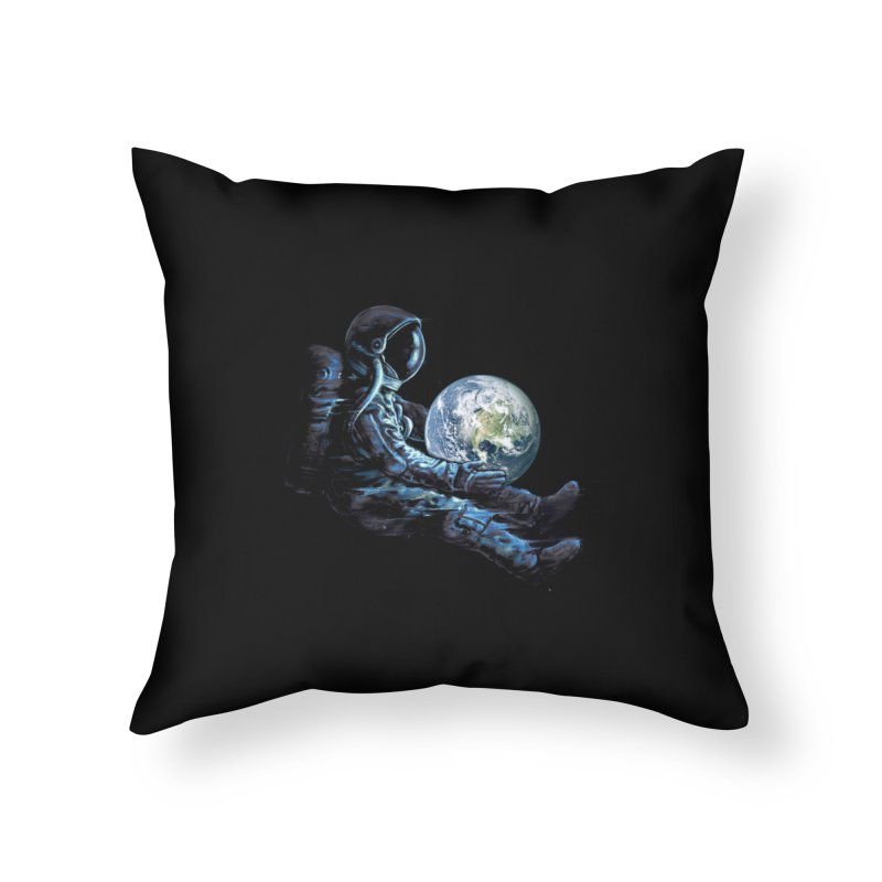Earth Play Home Throw Pillow by nicebleed