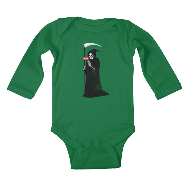 Death's Followers Everyday Kids Baby Longsleeve Bodysuit by nicebleed