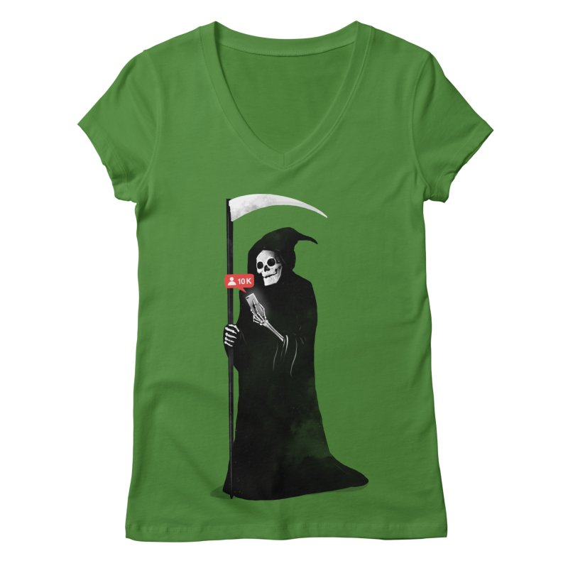 Death's Followers Everyday Women's Regular V-Neck by nicebleed