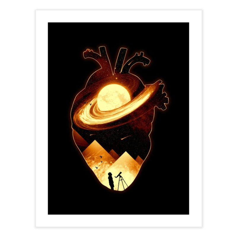 A Beat of Space Home Fine Art Print by nicebleed