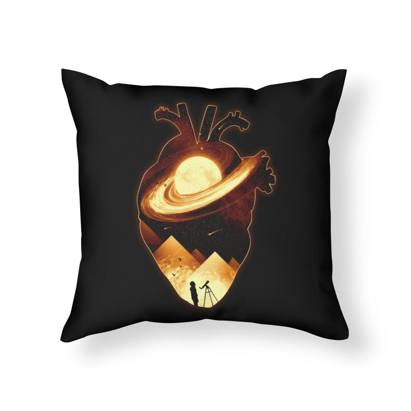 A Beat of Space Home Throw Pillow by nicebleed