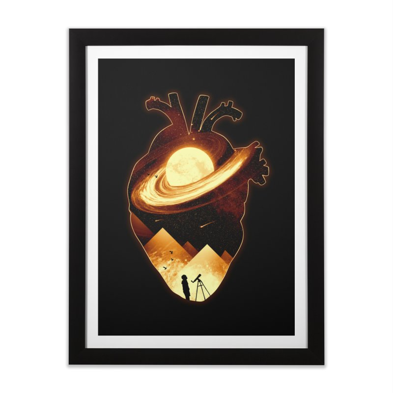 A Beat of Space Home Framed Fine Art Print by nicebleed