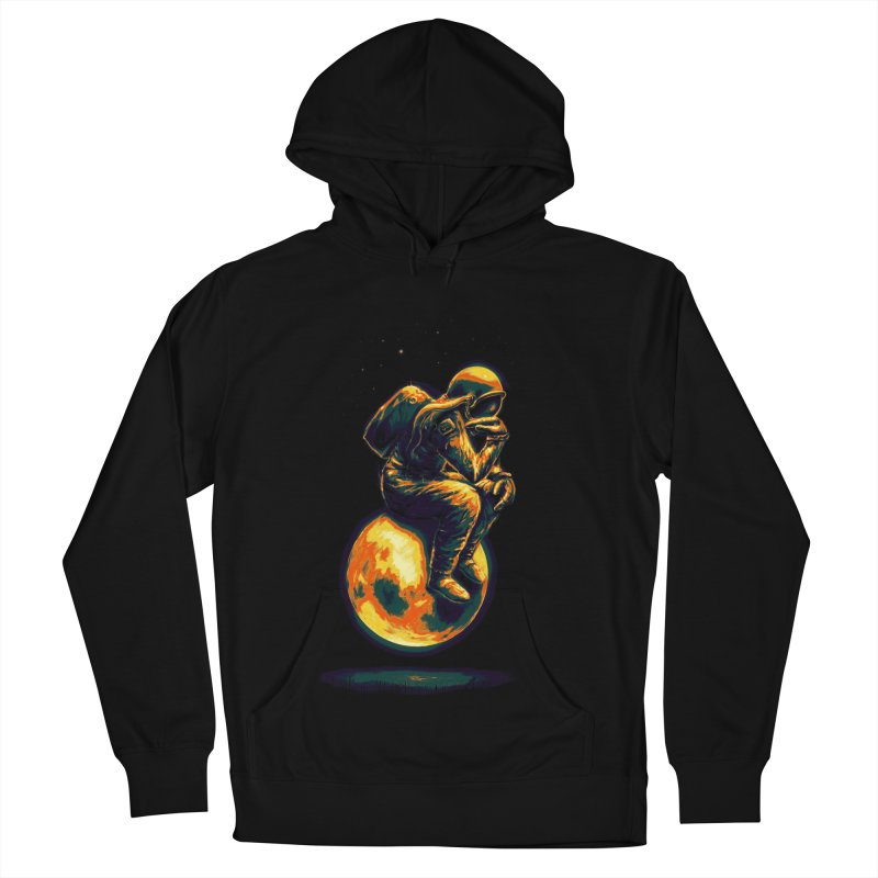 Space Thinker Women's French Terry Pullover Hoody by nicebleed