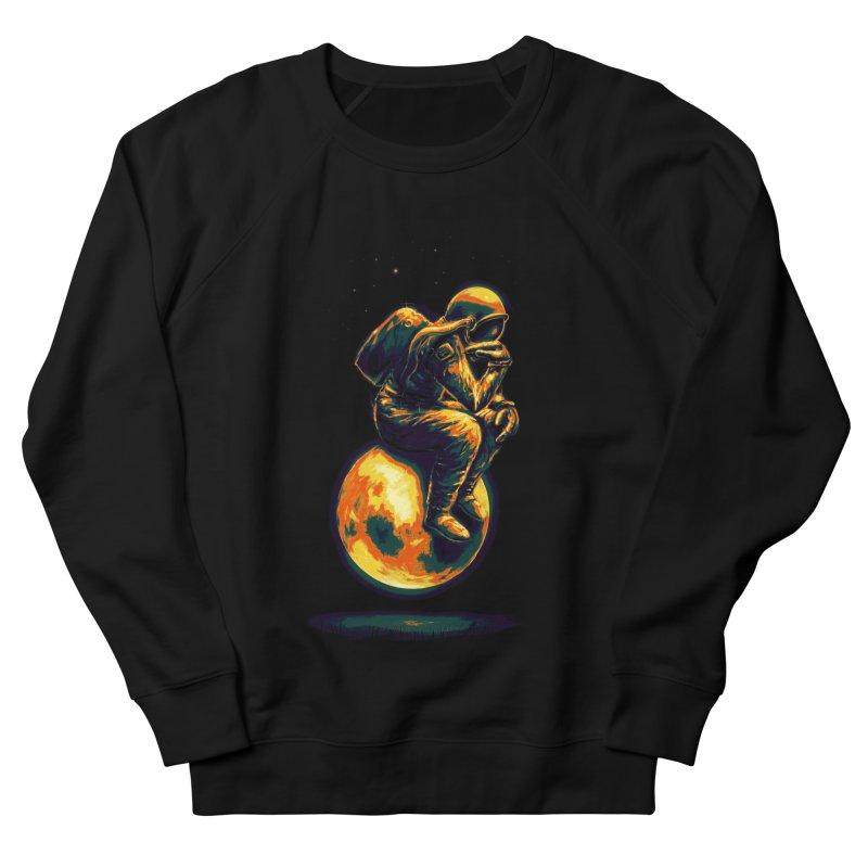 Space Thinker Men's French Terry Sweatshirt by nicebleed