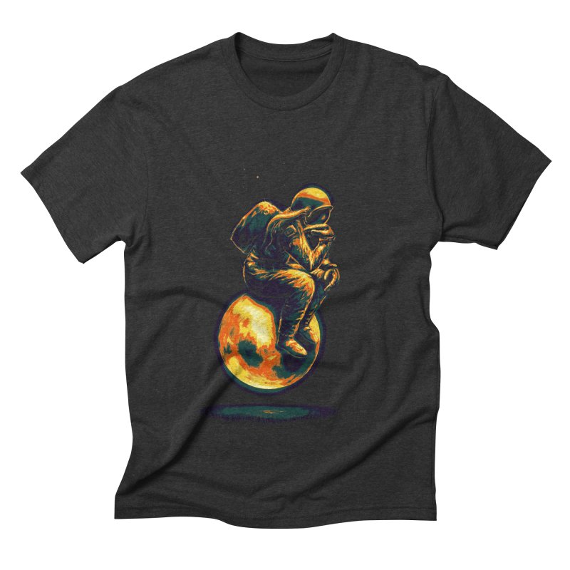 Space Thinker Men's Triblend T-Shirt by nicebleed