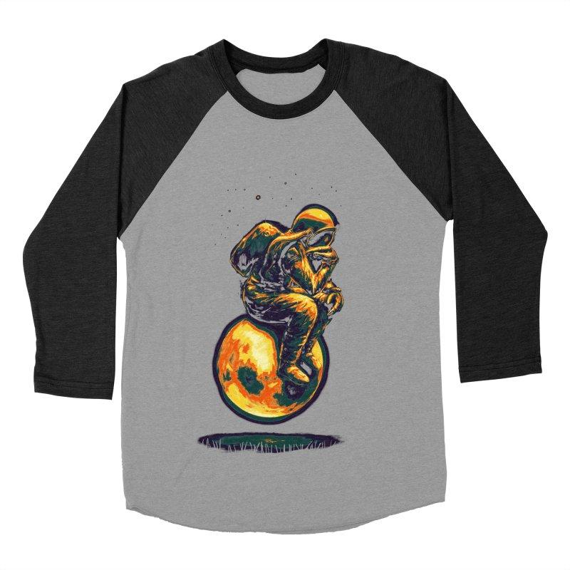 Space Thinker Men's Baseball Triblend Longsleeve T-Shirt by nicebleed
