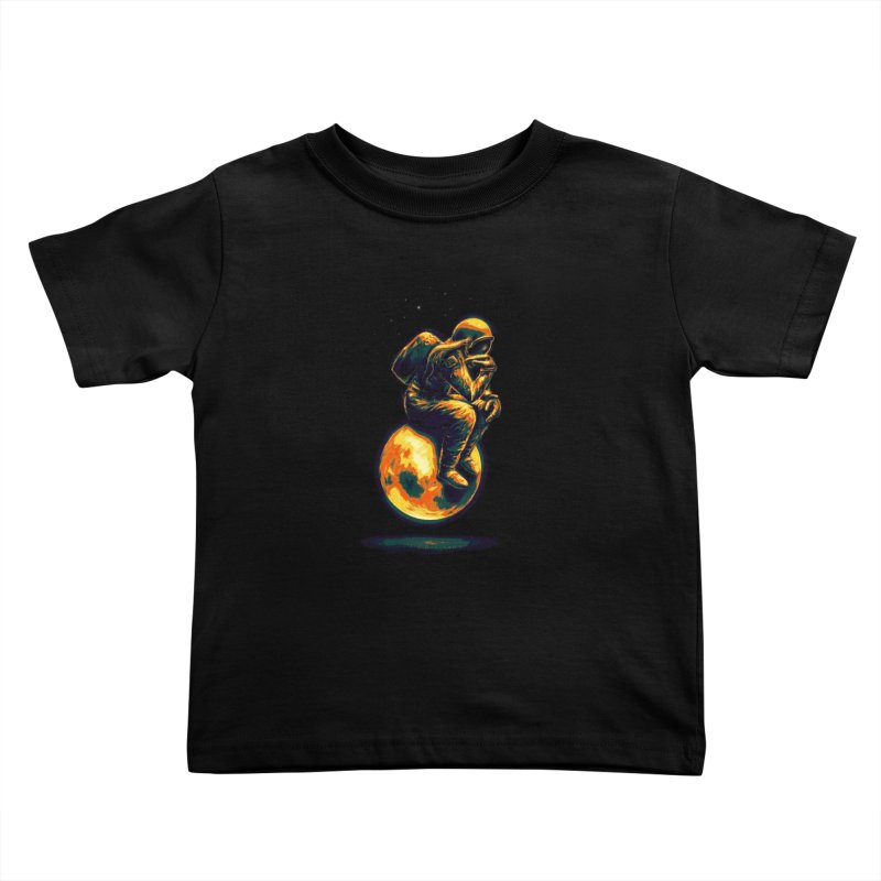 Space Thinker Kids Toddler T-Shirt by nicebleed