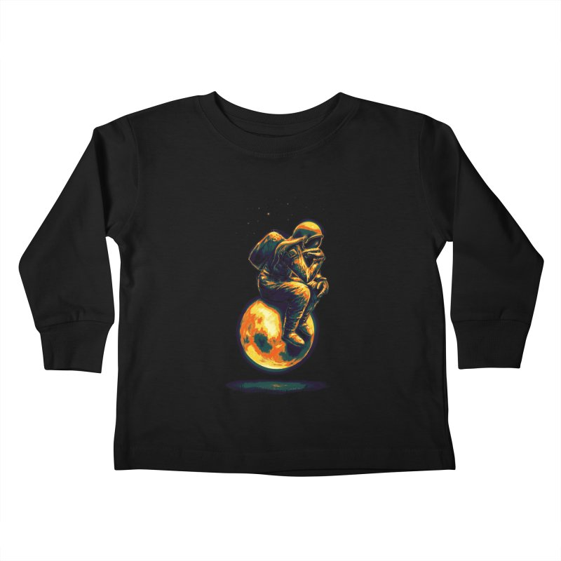 Space Thinker Kids Toddler Longsleeve T-Shirt by nicebleed