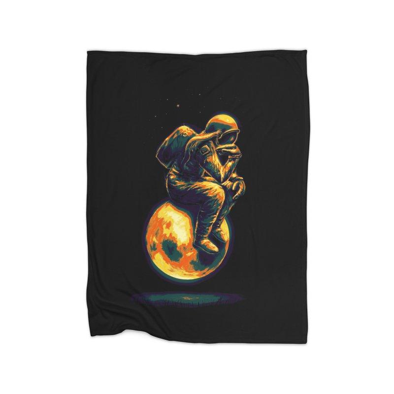 Space Thinker Home Blanket by nicebleed