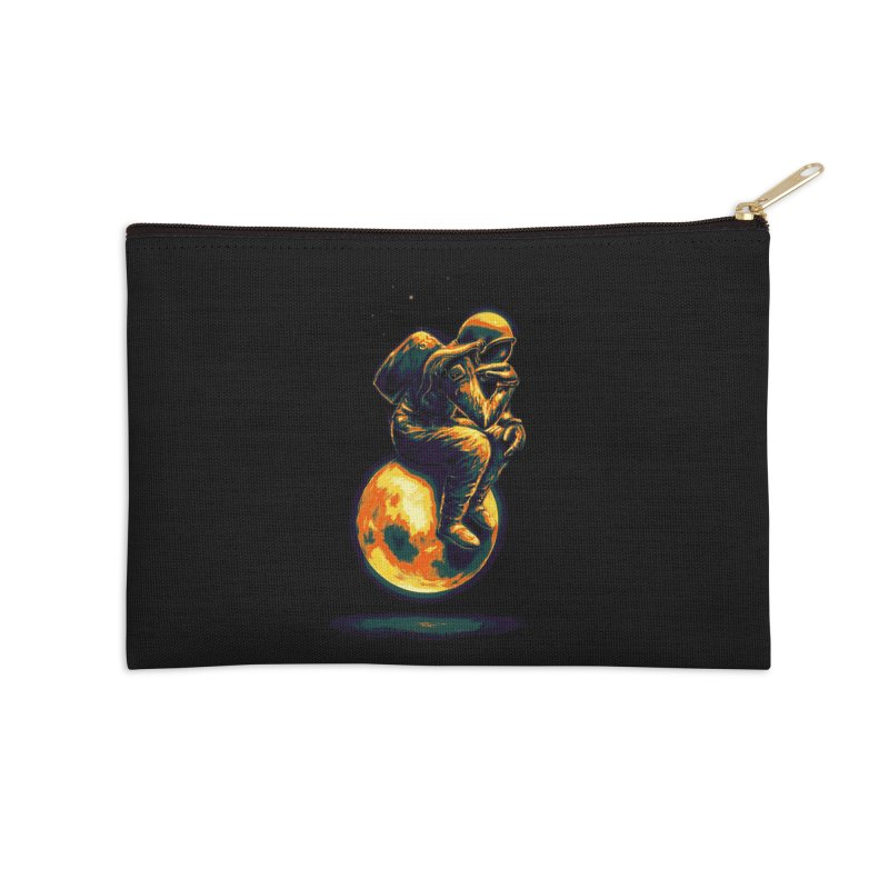 Space Thinker Accessories Zip Pouch by nicebleed