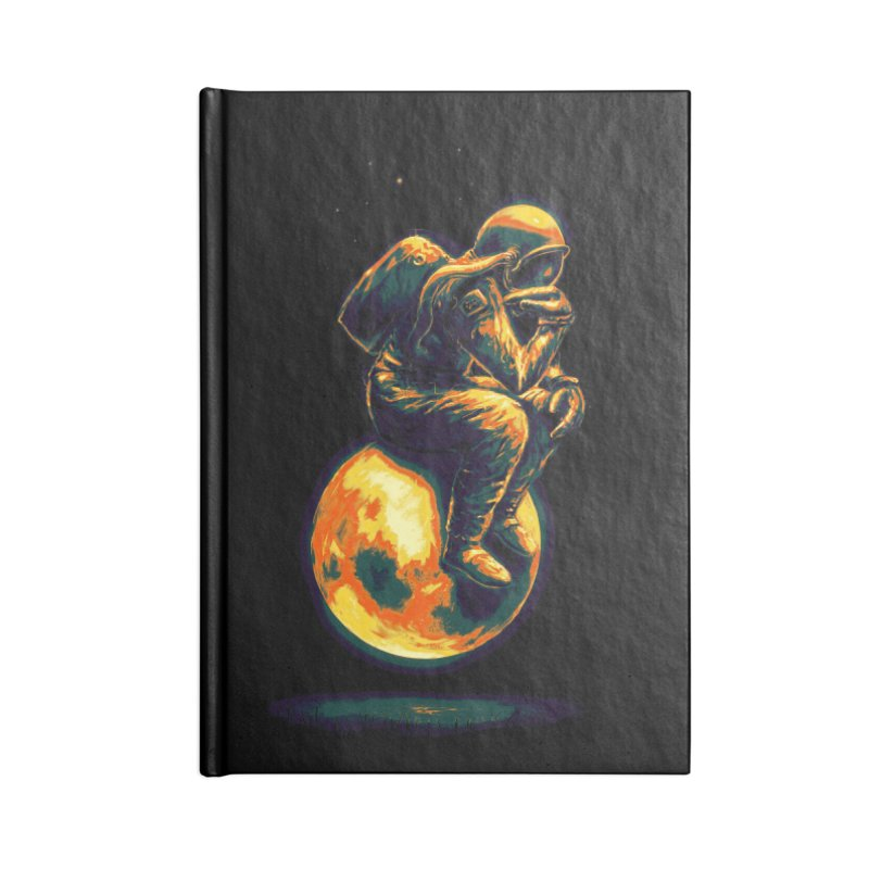 Space Thinker Accessories Notebook by nicebleed