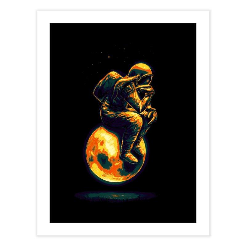 Space Thinker Home Fine Art Print by nicebleed