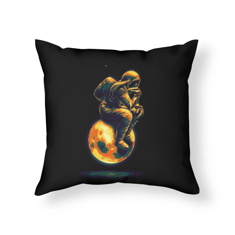 Space Thinker Home Throw Pillow by nicebleed