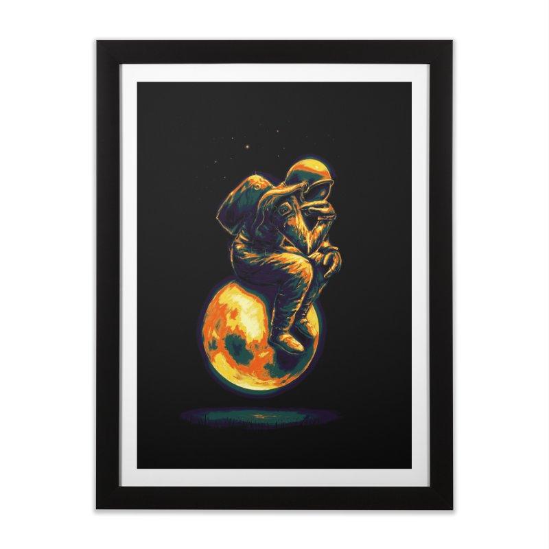 Space Thinker Home Framed Fine Art Print by nicebleed