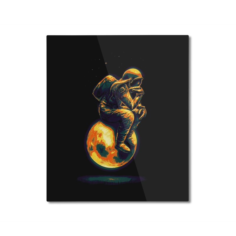 Space Thinker Home Mounted Aluminum Print by nicebleed