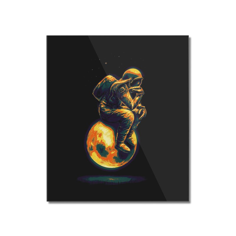 Space Thinker Home Mounted Acrylic Print by nicebleed
