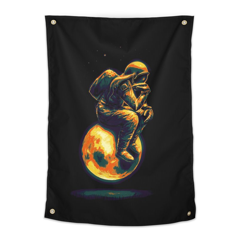 Space Thinker Home Tapestry by nicebleed