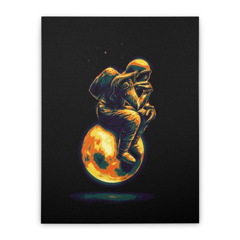 Space Thinker Home Stretched Canvas by nicebleed