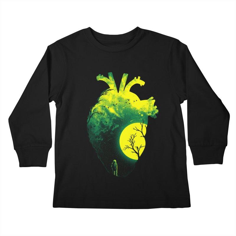 A Beat of Space 2 Kids Longsleeve T-Shirt by nicebleed