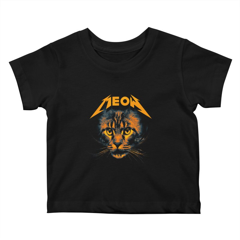 Meow Kids Baby T-Shirt by nicebleed