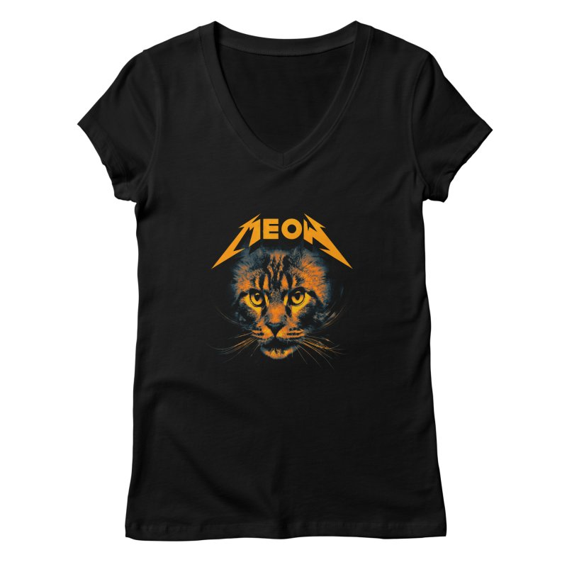 Meow Women's Regular V-Neck by nicebleed