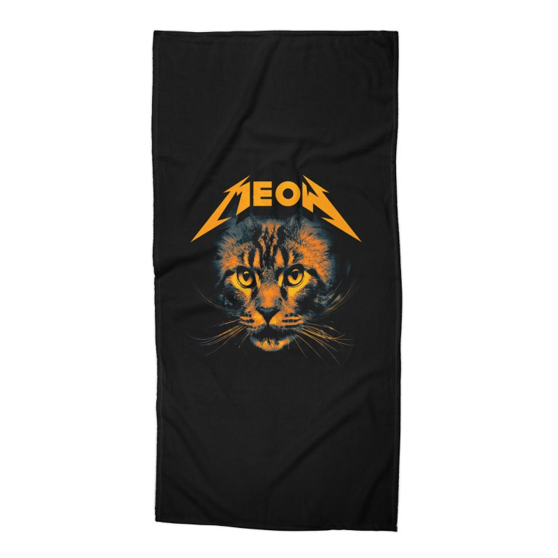 Meow Accessories Beach Towel by nicebleed