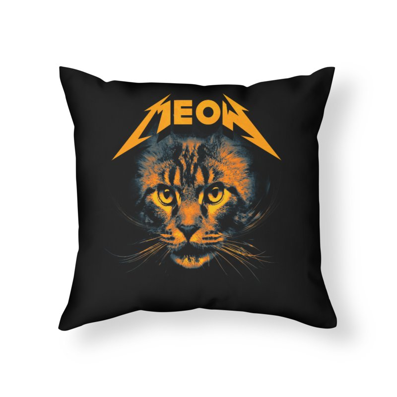 Meow Home Throw Pillow by nicebleed